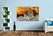 Premium Foto-Tapete Bergkristall im Feuer