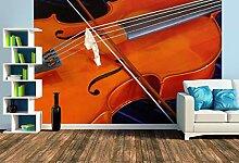Premium Foto-Tapete Cello mit Bogen (verschiedene