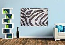 Premium Foto-Tapete Der Blick des Zebras