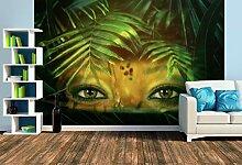 Premium Foto-Tapete Dschungelaugen im Regenwald