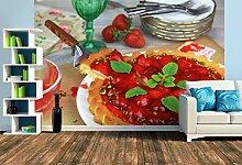 Premium Foto-Tapete Erdbeertorte mit Pistazien und