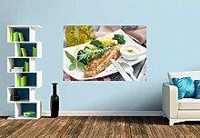 Premium Foto-Tapete Fischfilet mit frischen