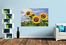 Premium Foto-Tapete Fröhliche Sonnenblumen