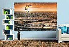 Premium Foto-Tapete Kitesurfer (versch. Größen)