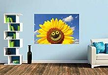 Premium Foto-Tapete Lachende Sonnenblume