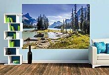 Premium Foto-Tapete Maligne Lake, Alberta