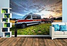 Premium Foto-Tapete Mannschaftswagen mit