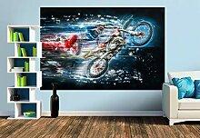 Premium Foto-Tapete Motocross (versch. Größen)