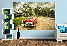Premium Foto-Tapete Retro Auto - Cuba