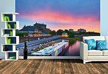 Premium Foto-Tapete Sonnenuntergang über der