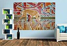 Premium Foto-Tapete Windhund in Graffiti