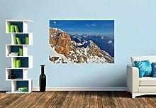 Premium Foto-Tapete Zugspitze mit Gipfelkreuz