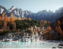 Premium Fototapete Bergsee 308 x 220 cm - 7