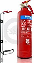PREMIUM FSS UK 1 KG ABC DRY POWDER FIRE EXTINGUISHER. BSI KITEMARKED. IDEAL FOR BOATS HOMES KITCHEN WORKPLACE OFFICES CARS VANS TAXI CABS VEHICLES TRUCKS WAREHOUSES GARAGES HOTELS RESTAURANTS by FSS UK