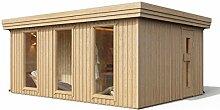 Premium Gartensauna Ardor mit Elektro- Saunaofen
