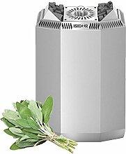 Premium Gartensauna Fides von Isidor mit Bio Elektro- Saunaofen Kaisa mit 8 kW Heizleistung; 4,1m² großem Saunaraum inkl. Sauna-Innenausstattung auf insgesamt 6 m² Gebäudefläche