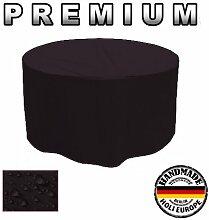 Premium Gartentisch Abdeckung Gartenmöbel Schutzhülle RUND ø 100cm x 75cm Schwarz