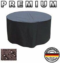 Premium Gartentisch Abdeckung Gartenmöbel Schutzhülle RUND ø 100cm x 75cm Anthrazi