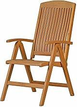 """Premium Hochlehner """"Brighton"""" aus Teak-Holz   ✓ Edler Gartensessel für Wintergarten ✓ Wetterfester Garten-Stuhl & Klapp-Sessel sowie klappbares Terrassen-Möbel & Balkon-Möbel ✓ Praktischer Klappstuhl"""