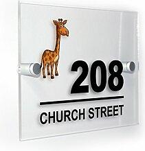Premium Home Plaques Giraffe Modern Style