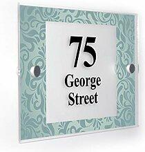 Premium Home Plaques Hausnummernschild, mit