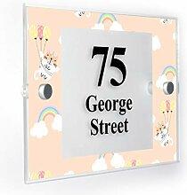 Premium Home Plaques Hausnummernschild mit