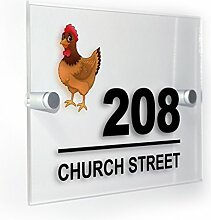 Premium Home Plaques Henne Huhn Modern Style