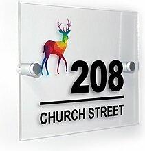 Premium Home Plaques Rainbow Hirsch Modern Style