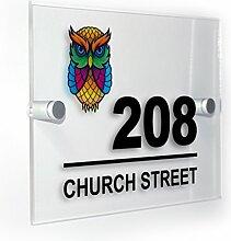 Premium Home Plaques Rainbow Owl Modern Style