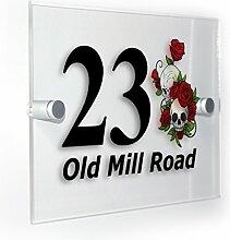 Premium Home Plaques Skulls & Roses Classic Style