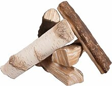 Premium Keramikholz Birke Holz Deko Gelkamin