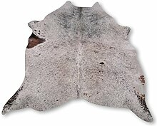 Premium Kuhfell-Teppich aus Südamerika - 100% Naturprodukt - salt & pepper gesprenkelt L240 x B226cm