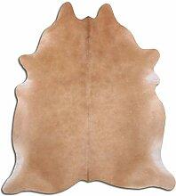 Premium Kuhfell Teppich - L205 x B185 cm - beige