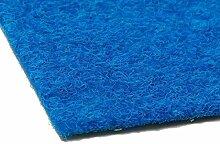 Premium Kunstrasen Rasenteppich PARK mit Noppen in Meterware – Blau, 2,00m x 6,00m ✓ Vlies-Kunstrasen mit Drainagenoppen ✓ Robust ✓ Pflegeleicht & Strapazierfähig & weiche Vlies-Oberfläche | Kunstrasenteppich