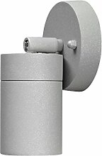 Premium LED Wandleuchte SPOT Außenleuchte, 1-Flammig, Aluminium, Grau, GU10-230V, (Form:W23) (Warmweiß)