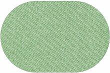 Premium Leinen Optik Oval 160 x 220 bzw. 160x220 bzw. 220x160 cm Hellgrün / Grün Tischdecke Garten mit Lotus Effekt Tischwäsche von DecoHometextil - Hellgrün / Grün
