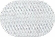 Premium Leinen Optik Oval 160 x 220 bzw. 160x220 bzw. 220x160 cm Weiss Tischdecke Garten mit Lotus Effekt Tischwäsche von DecoHometextil - Weiss