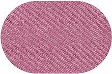 Premium Leinen Optik Oval 160 x 220 bzw. 160x220 bzw. 220x160 cm Altrosa / Rosa Tischdecke Garten mit Lotus Effekt Tischwäsche von DecoHometextil - Altrosa / Rosa