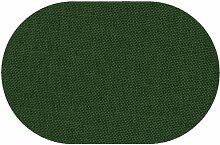 Premium Leinen Optik Oval 160 x 220 bzw. 160x220 bzw. 220x160 cm Dunkelgrün / Grün Tischdecke Garten mit Lotus Effekt Tischwäsche von DecoHometextil - Dunkelgrün / Grün