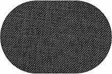 Premium Leinen Optik Oval 160 x 220 bzw. 160x220 bzw. 220x160 cm Grau Tischdecke Garten mit Lotus Effekt Tischwäsche von DecoHometextil - Grau