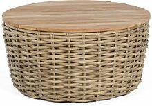 Premium Lounge-Gartentisch rund aus wetterfestem