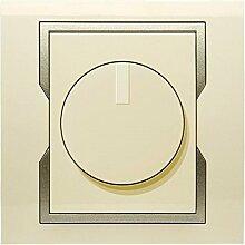 PREMIUM Qualität Schuko Steckdose Ausschalter Taster Lichtschalter QUATTRO BEIGE (Dimmer 1117-11)