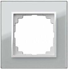PREMIUM Qualität Schuko Steckdose Ausschalter Taster Lichtschalter SENTIA (1 Fachrahmen Silber 1471-63)