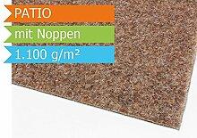 Premium Rasenteppich Patio - Beige mit Noppen - 4,00m x 15,00m