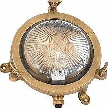 Premium Schiffslampe für Außen echtes Messing