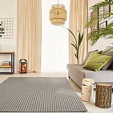 Premium Schlingen Teppich Matterhorn - Farbe wählbar / schadstoffgeprüft pflegeleicht und robust / für Wohnzimmer Schlafzimmer Büros und auch für Fußbodenheizung geeignet , Größe:200 x 220 cm, Farbe:beige-grau