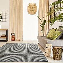 Premium Schlingen Teppich Matterhorn - Farbe wählbar / schadstoffgeprüft pflegeleicht und robust / für Wohnzimmer Schlafzimmer Büros und auch für Fußbodenheizung geeignet , Farbe:anthrazit, Größe:100 x 100 cm