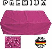PREMIUM Schutzhülle Gartenmöbel Abdeckung / Gartentisch Abdeckplane B 160cm x T 90cm x H 70cm Pink / Rosa
