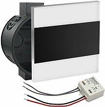 Premium Set LED Wandeinbaustrahler schwarz