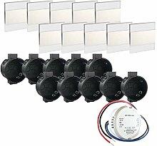 Premium Set LED Wandeinbaustrahler Treppenlicht